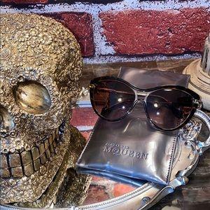 Alexander McQueen Skull Havana Sunglasses